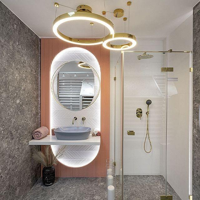 Oświetlenie łazienkowe nad lustrem aranżacje